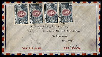 1940 British Honduras Commercial Airmail Cover To Us