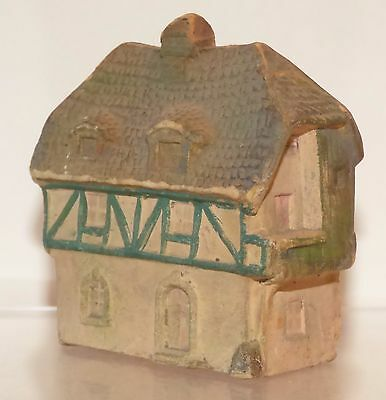 GPM011 - Vintage German Papier Mache - House 6.7cm X 3.8cm X 7cm high