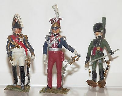 WMS03 - another 3 Napoleonic figures for repainting. Hinton Hunt ?