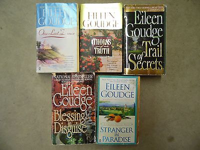 Lot of 5 Eileen Goudge Romance, Mystery Paperback Books