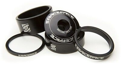 """Race Face Bike / Cycle Headset Spacer Kit - 1x Top Cap, 4x 1""""1/8 Headset Spacers"""