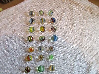 21 Vintage Cats Eye Marbles