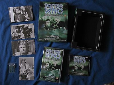 Dr Who The Crusade & The Space Museum Rare Video / Cd Box Set + Keyring & Cards