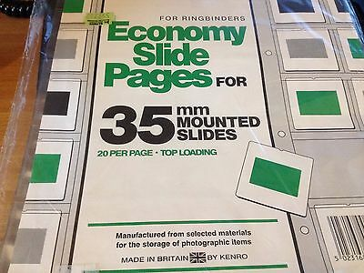 Kenro Slide Pages for 35mm Mounted Slides (for ring binders)