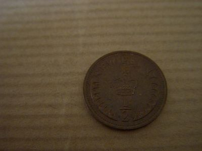 1971 Uk 1/2 Pence Coin