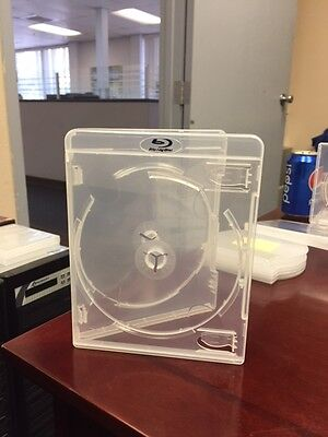 Blu Ray Case  holds 4-6 disc 15.8 mm Stackable Hub BD Clear New 100 units