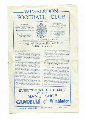 1955/56 London Senior Cup - WIMBLEDON v. CORINTHIAN CASUALS
