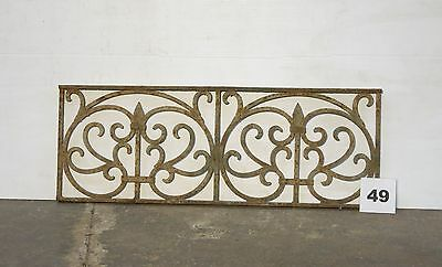Antique Egyptian Architectural Wrought Iron Panel Grate (IS-049)