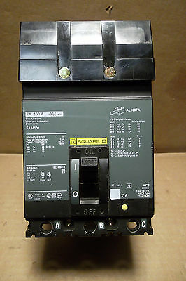 New Square D Fa Fa34100 3 Pole 100 Amp 480V Circuit Breaker Green Label