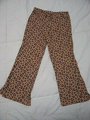 Girls pants GYMBOREE Size 5 5T brown leopard animal print preloved