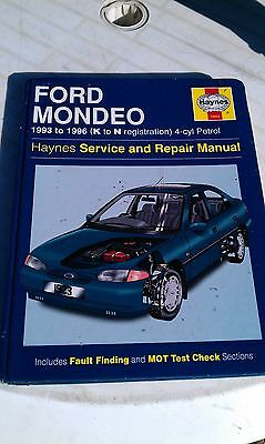 No. 1923 Haynes Workshop Repair Manual Ford Mondeo 1993 1999 Petrol