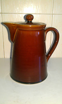 Vintage DENBY BOURNE - Treacle Brown Coffee Pot - 1+ pint