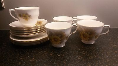 Queen Anne Bone China Side Plates & Cups & Saucers