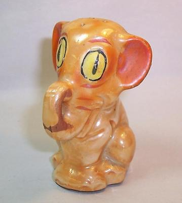Vintage 1930s ART DECO Ceramic PEPPER POT Shaker ORANGE ELEPHANT