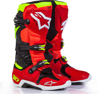 Alpinestars Tech 10 Limited Edition Torch Boots Black/Red/Yellow Mens All Sizes
