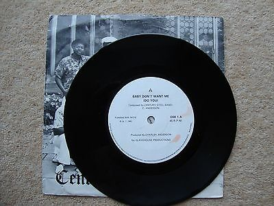 "Century Steel Band ~ BABY DON'T WANT ME (DO YOU)~ 7"" SINGLE 1982 1ST A1/B1"