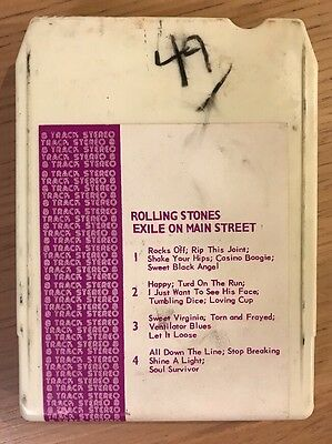 The Rolling Stones / Exile On Main Street / 8 Track Cassette Tape