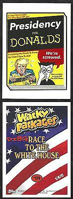2017 Wacky Packages Disgrace To White House #129 Presidency For Donalds 129 Made