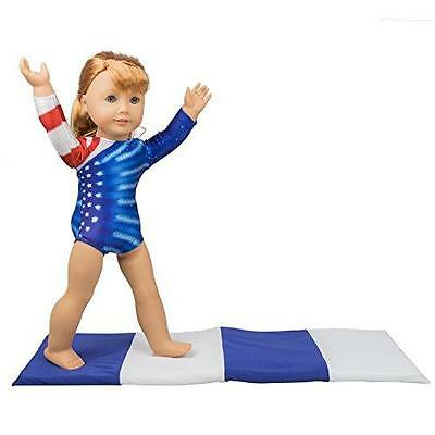 Gymnastics Outfit and Mat Set for American Girl Dolls: 2 Pcs Doll Clothes New