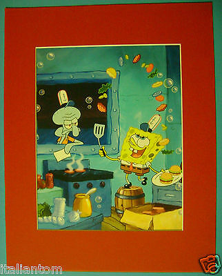 Matted Spongebob Squarepants Squidward Cel Cell Animation Art