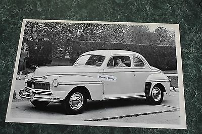 "12 By 18"" Black & White Picture 1946 Mercury Coupe"