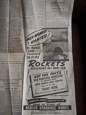 1945 WAR MANPOWER COMMISSION NEWSPAPER AD  Employment HAVE A COKE circus ad