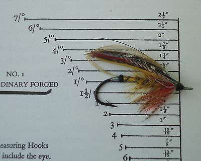 Hardy Vintage Gut Eyed Salmon Fly  1 1/2 Scale- CHILDERS Pattern