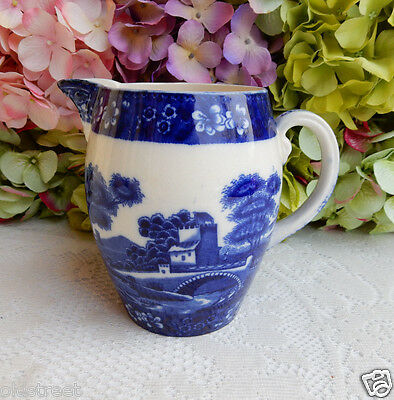 Beautiful Copeland Spode Blue Tower Jug Pitcher ~ Old Mark