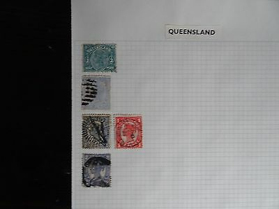 Selection of Queensland Issues (Used) on an Album Page - Useful ?