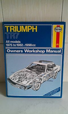 No. 322 Haynes Workshop Repair Manual Triumph TR7 1975 to 1982 1998cc