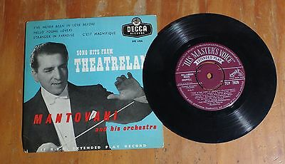 "'Song Hits From Theatreland No 2' MANTOVANI 7"" vinyl single EP Decca DFE 6326"
