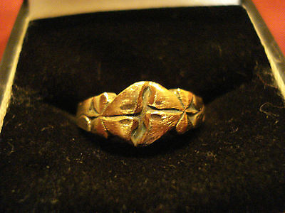 Byzantine / Medieval Decorated Ring--Detector Find