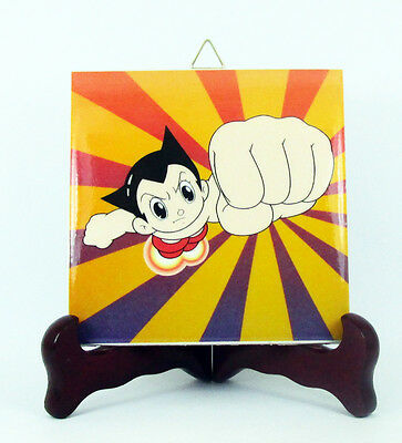 Astro Boy collectible hq ceramic tile handmade in Italy anime manga japanese