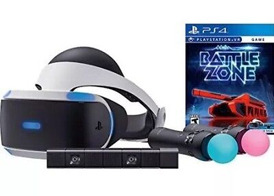 Sony PlayStation VR Headset Battlezone Bundle Inc. V2 Camera & Move Controllers
