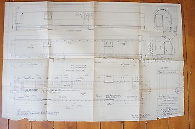1952 Railway Technical Diagram of Post Office Vechicle Drawing