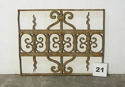 Antique Egyptian Architectural Wrought Iron Panel Grate (IS-021)