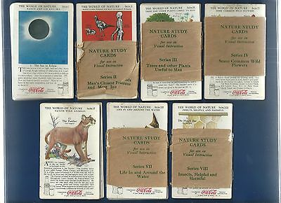 """1930's Cocal Cola """"The World of Nature"""" Near Complete Set 7/8 - 84 Cards !!!!"""