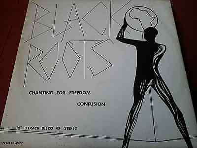 """Black Roots  Chanting For Freedom (1981)12"""" Vinyl Single"""