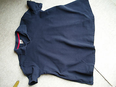 maternity size 16 t-shirt top cotton navy blue short sleeved