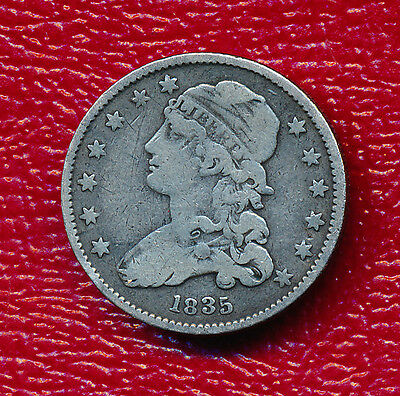 1835 Capped Bust Quarter **nice Circulated Coin** Free Shipping!