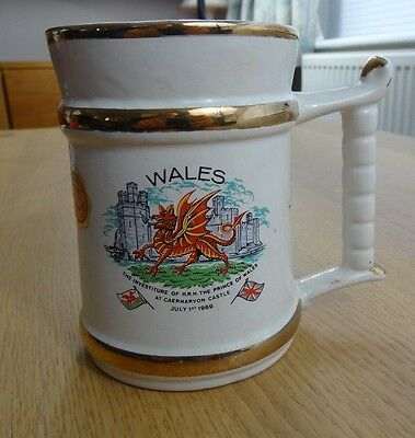 Vintage Prince William Ware Tankard WALES July 1st 1969 Investiture Prince Wales