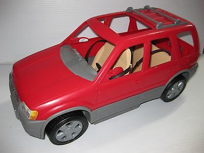 BARBIE Happy Family CAR Red FORD ESCAPE SUV Sports Vehicle w/ GPS