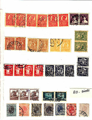 ROMANIA Old Stamps Roumanie divers  Lot R 13