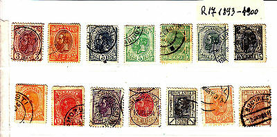 ROMANIA Old Stamps Roumanie 1893-1900  Lot R 17