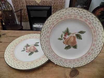 Set Of 3 Johnson Brothers Fruit Sampler Dinner Plates
