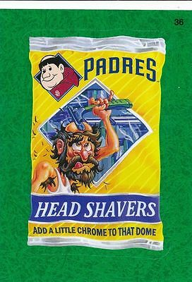 2016 Topps Wacky Packages Mlb - San Diego Padres Head Shavers - Green Grass!!!