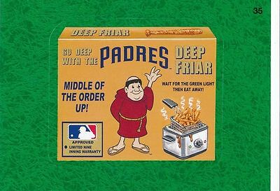 2016 Topps Wacky Packages Mlb - San Diego Padres Deep Friar - Green Grass!!!