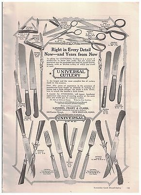 1916 Universal Cutlery Ad Scissors Pocket Knives Paring Bread Knives And More