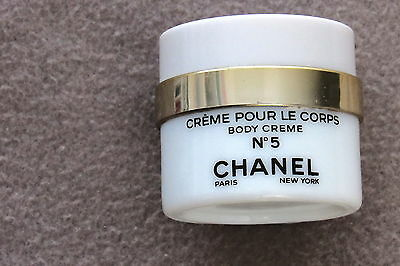 Vintage Chanel No 5 Creme Pour Le Corps Body Creme Paris New York Empty Jar