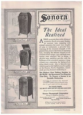 Grand Baby Gran and Imperial Models in 1916 Sonora Phonograph Corporation Ad